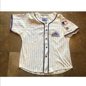 Vintage Starter Colorado Rockies Button Up Jersey